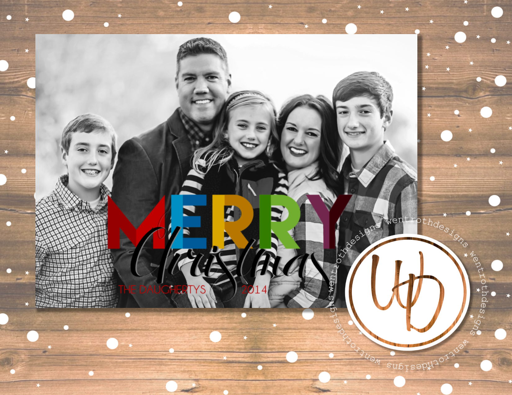Modern Christmas Card By Wentroth Designs Visit Us On Facebook To