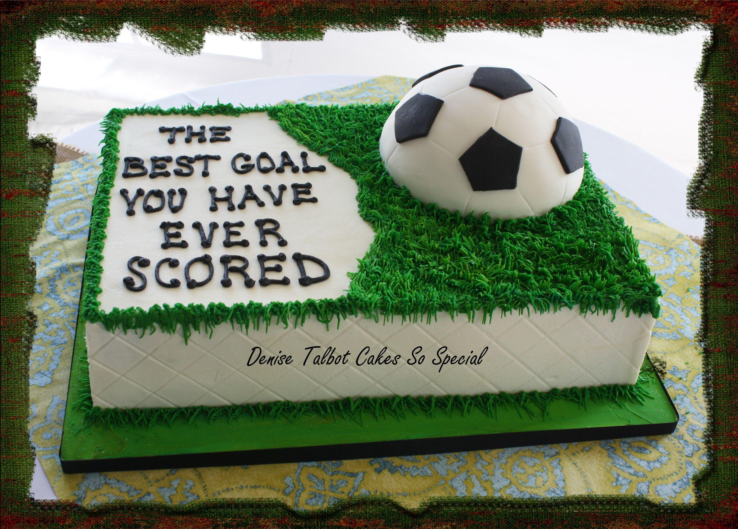 Soccer Cake Wedding And Party Cakes I Make Pinterest Soccer