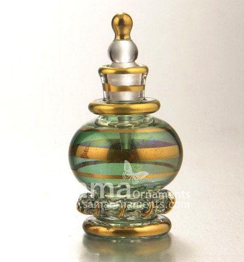 Egyptian blown glass perfume tiny bottle by SamaOrnaments on Etsy, $9.95