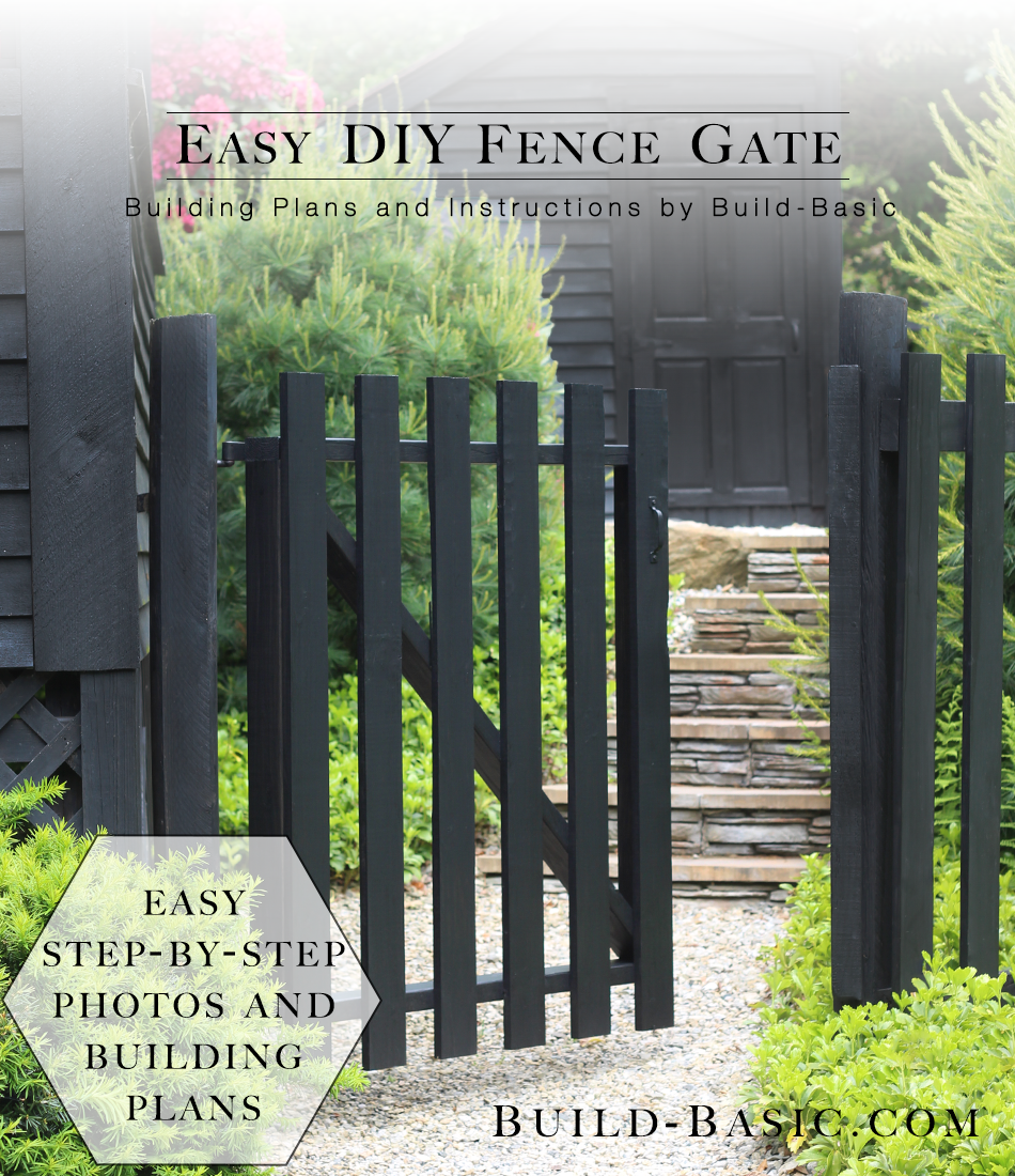How To Build An Easy Diy Garden Gate Free Building Plans And Step By Photos Buildbasic Www Basic Woodworking Gardengate Fencegate