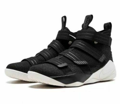 422f093b9ab Nike Lebron Soldier XI SFG Mens Basketball Shoes 14 Black Sail Racer Blue   Nike  BasketballShoes