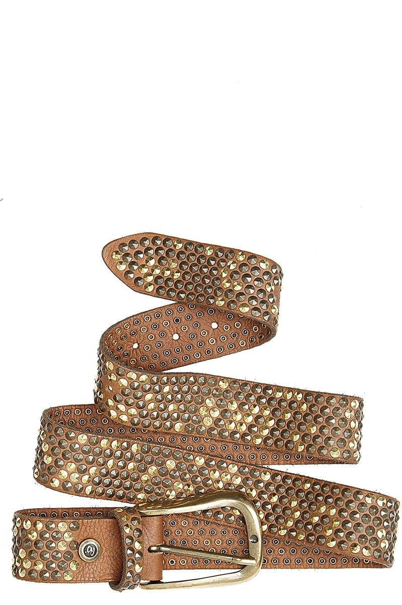 Studded Leather Belt @Kristen Kyslinger St. Barth