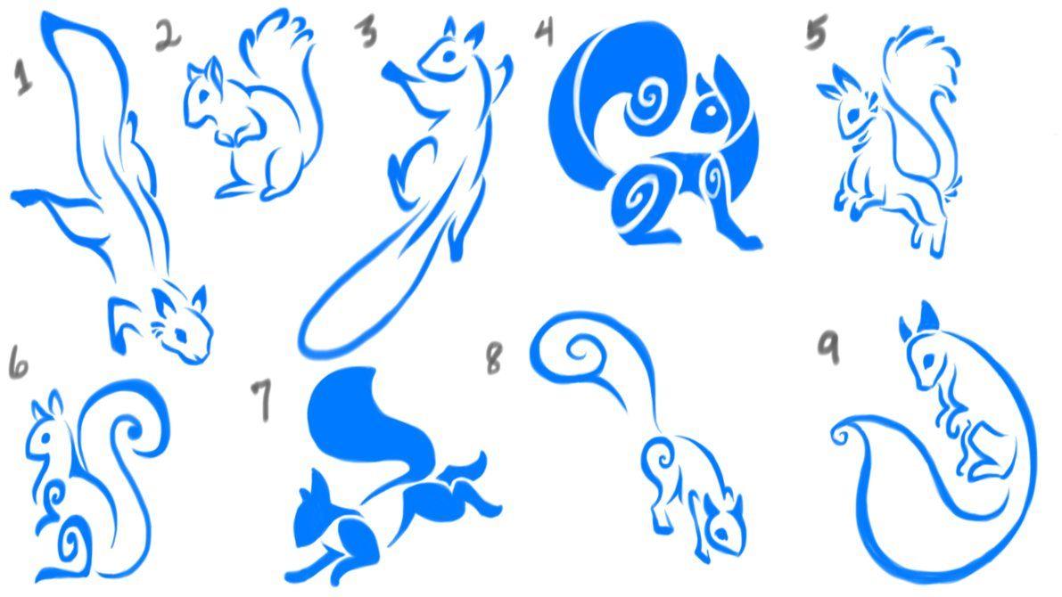 Simple Squirrel Tattoo Sketches By Endless Masquerade Deviantart Com On Deviantart Squirrel Tattoo Tattoo Sketches Silhouette Tattoos