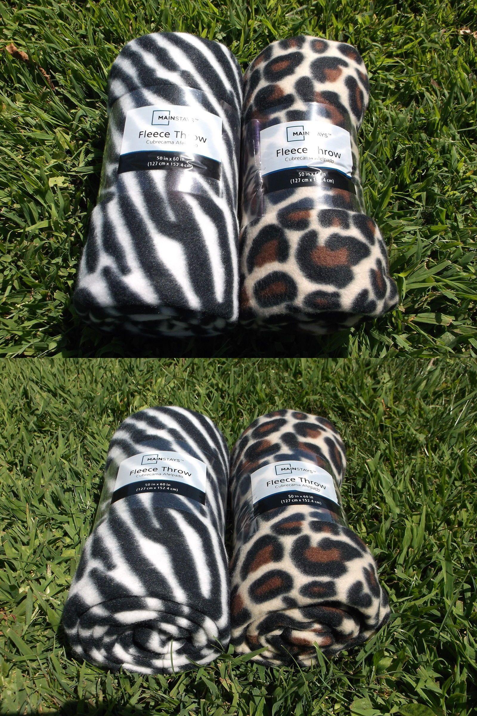 Qty of large x mainstays leopard or zebra pet dog cat fleece