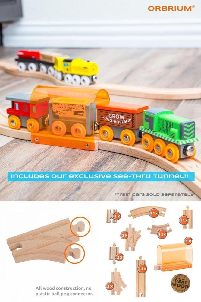 Wooden Train Track Set Accessories Expansion Compatible Thomas Wood