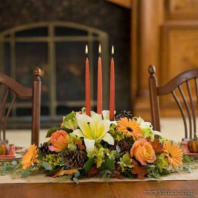 Vintage Beauty Thanksgiving Long And Low Floral