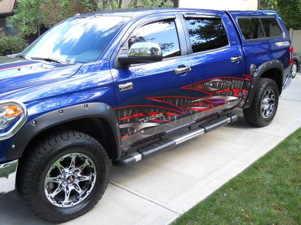 American Flag Tear Graphics Truck On A Ford F Xtreme Digital - Truck decal graphics