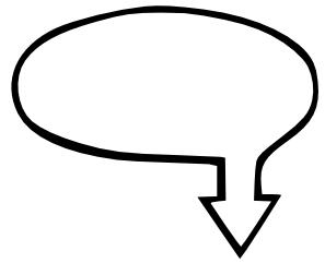 text bubble oval arrow left