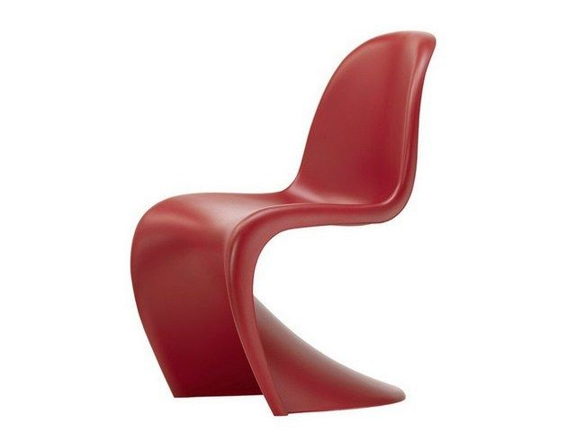 Sedia Panton Trasparente : Marsala sedia in plastica panton chair by vitra design verner