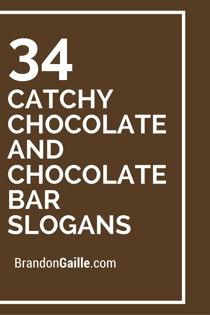 Catchy Names For Chocolate Bars