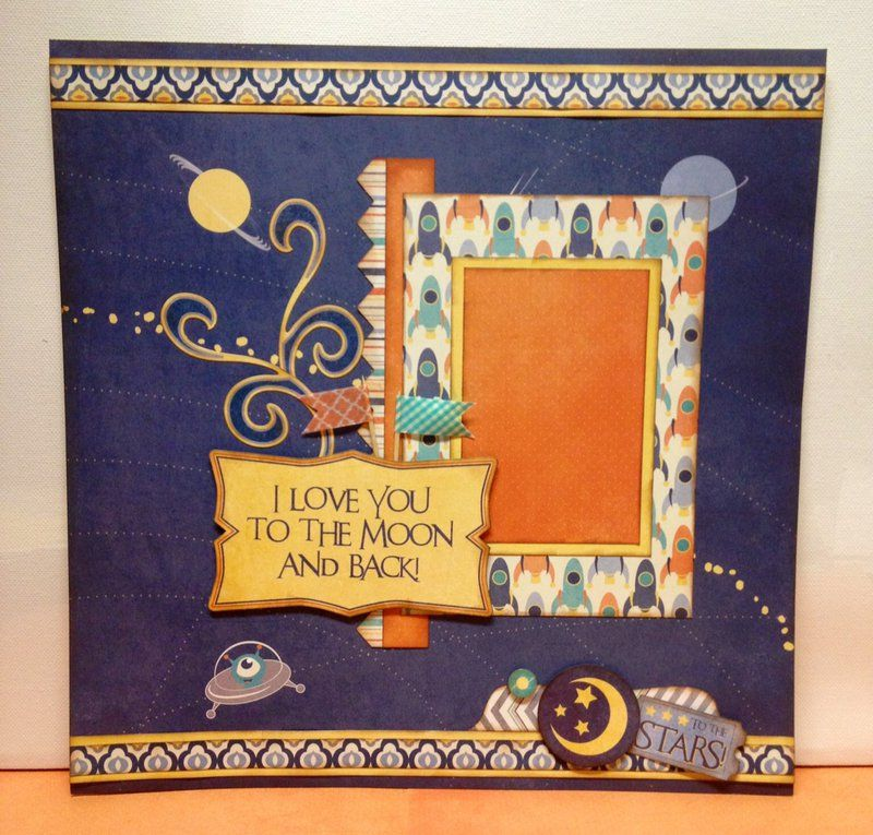 To the Moon and Back Layout - Scrapbook.com
