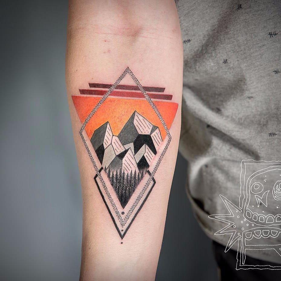 Mountain Shapes by Chris Rigoni chrisrigroni geometric