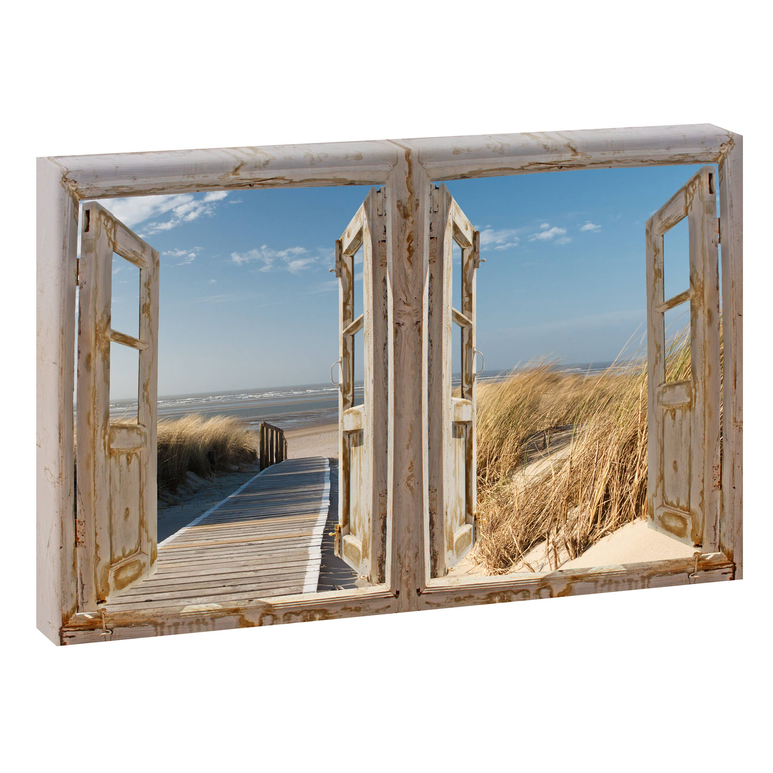 Bild Auf Keilrahmen Picture Of The Beach Beach Sea Wedge Frame Canvas Poster