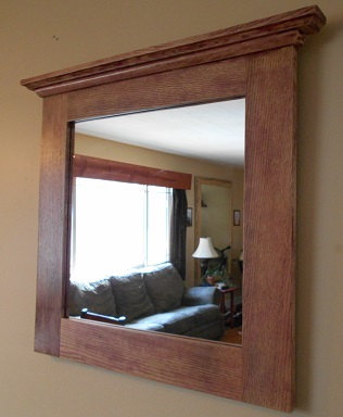Framed Bathroom Mirrors Rustic isn't this beautiful?. . . . . . . . . .oak mirror rustic oak