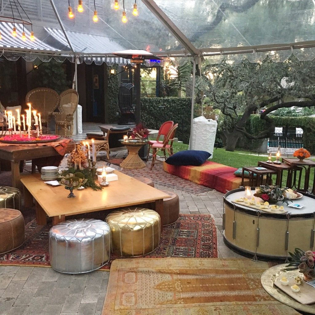 Moroccan outdoor event HotelStCecilia with floor seating and