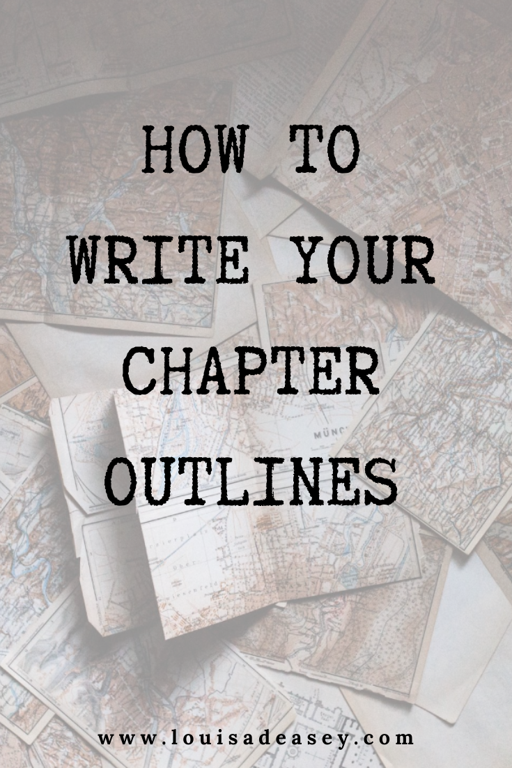 How to write your chapter outlines