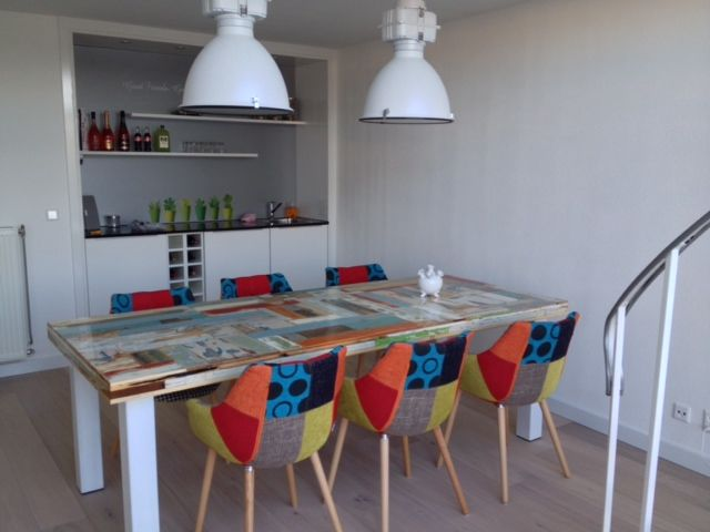 Stoel Zuiver Eleven : Dyyk industry wit en zuiver eleven patchwork stoelen wohnzimmer in