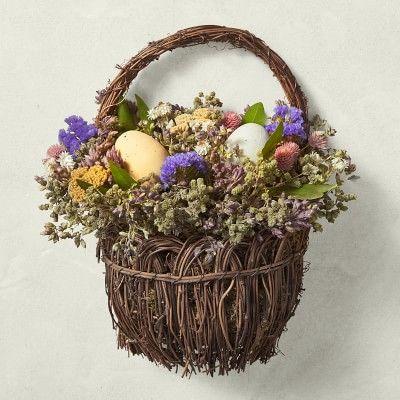 Photo of Easter Basket Door Wreath with Eggs