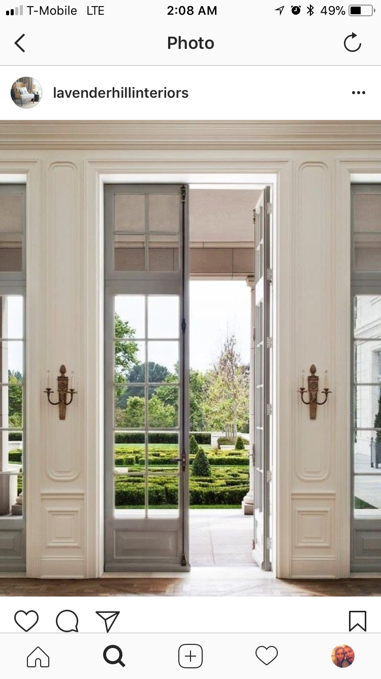 The Cremone Bolts Exposed The Height The Exaggerated 3 4 Style Panel The Barrow Rails And Styles Yes French Doors Interior Narrow French Doors French Doors