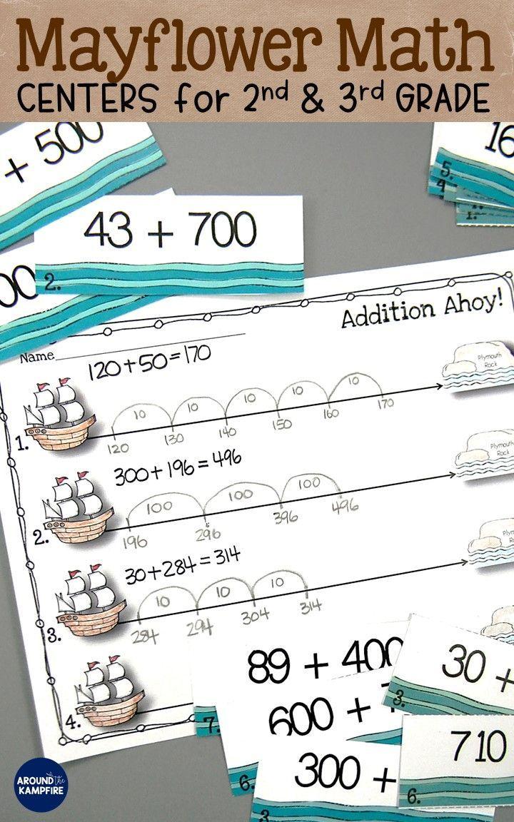 Thanksgiving Math Centers and Mayflower Math Craft   Pinterest ...