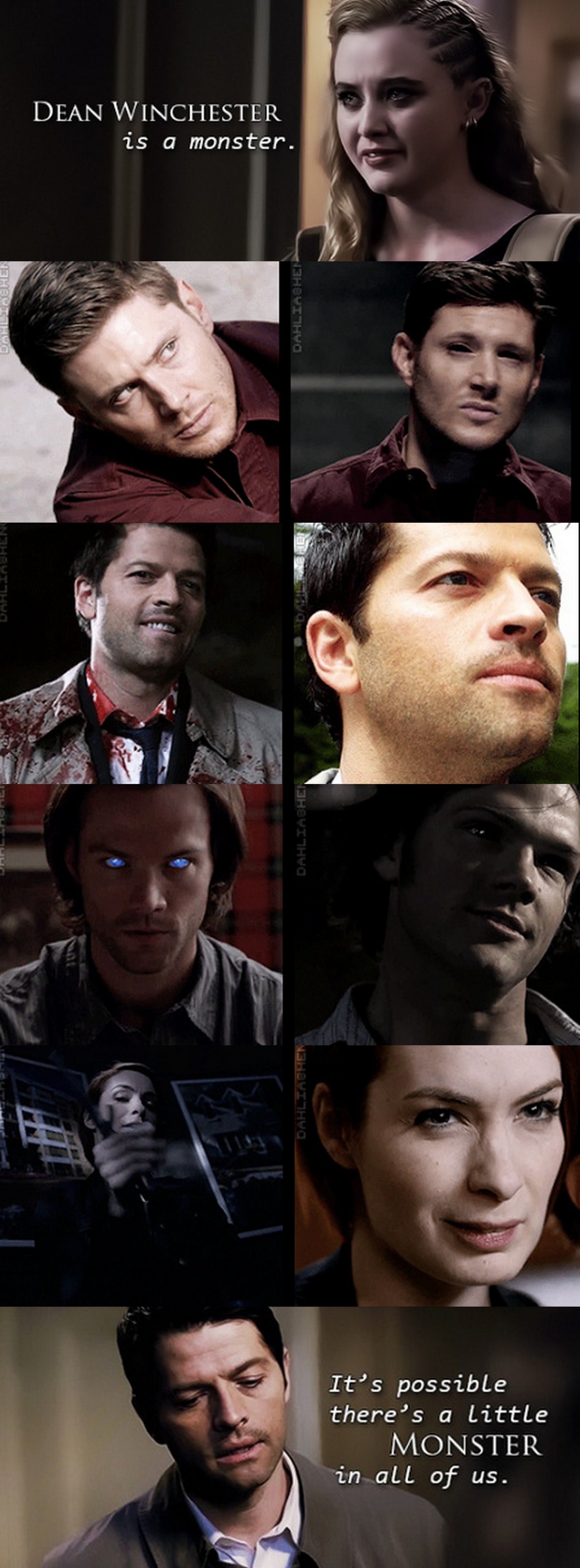 [GIFSET] I really love some of the lines from the newest episodes of Supernatural. Especially this one. Cas just hit it on the head, I literally had chills after this line.