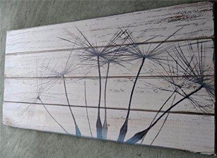 Holzbild Pusteblume Holzschild Bild Wandbild Vintage Shabby Chic 100 ...