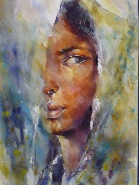 Image Portraits Aquarelle De Francoise Godiard Du Tableau