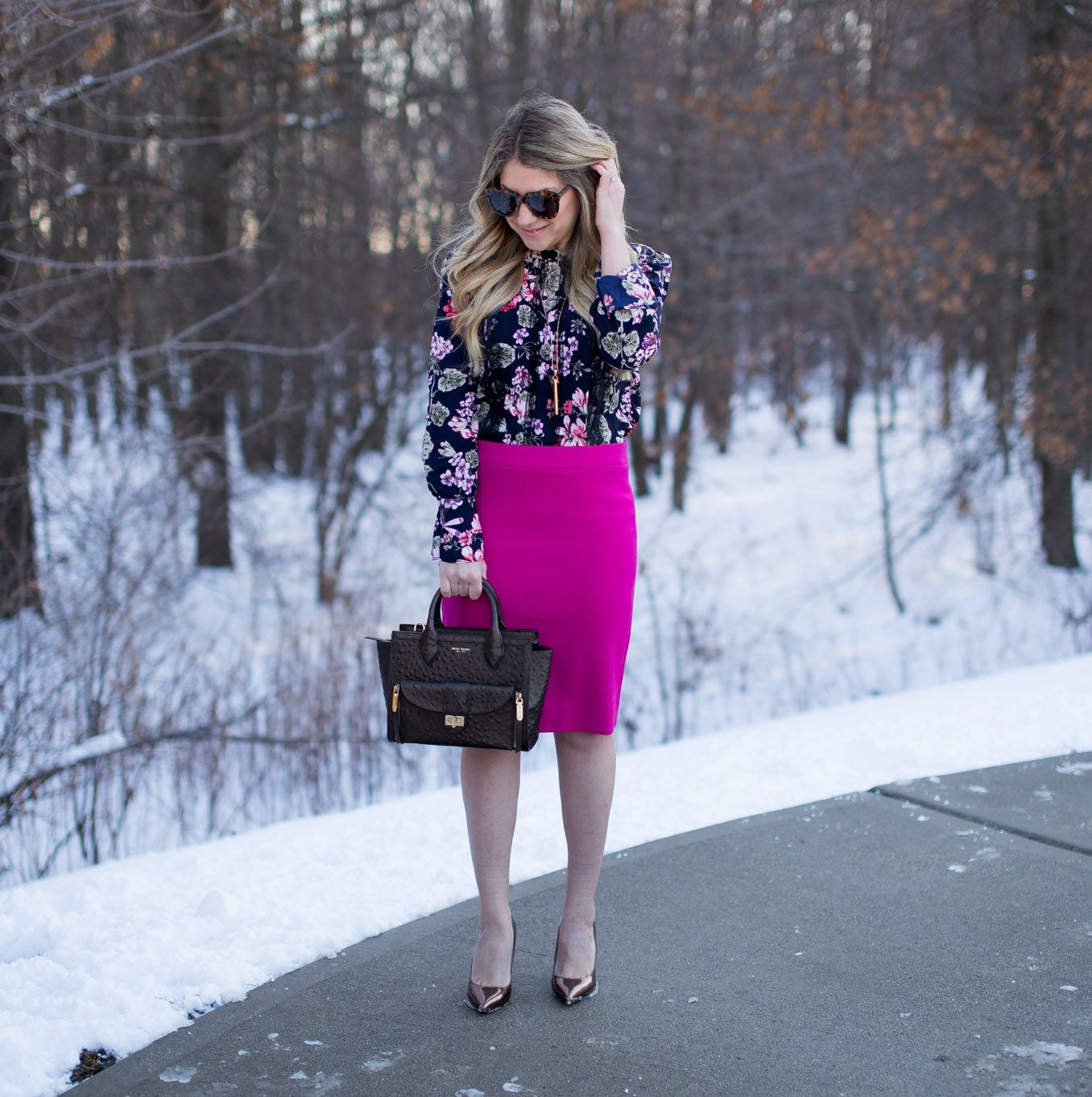 Colorful Work Outfit Idea
