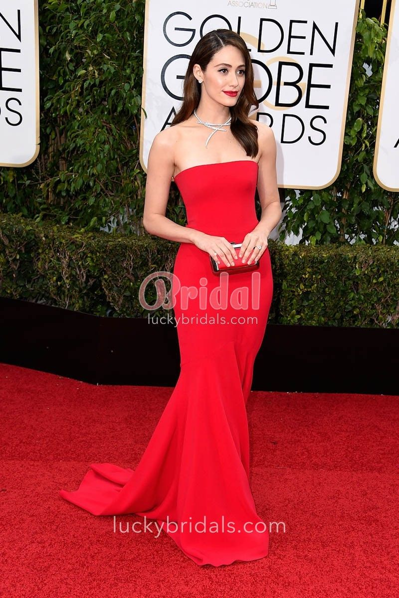 Image Associee Celebrity Prom Dresses Red Strapless Dress Strapless Dress Formal