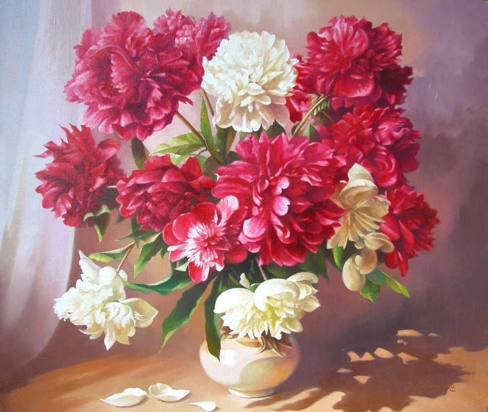 Vyacheslav Rydvanenko (b.1956) –– Peonies, 2011 (999x843 ...
