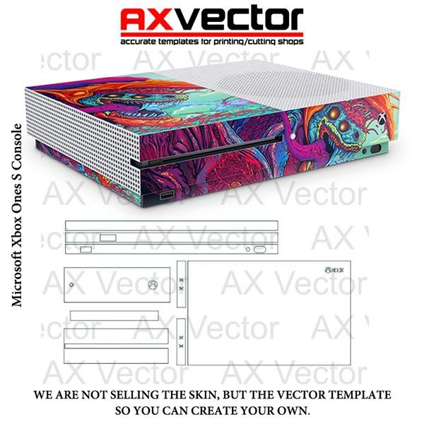 xbox one s console template crafts xbox xbox one xbox one s
