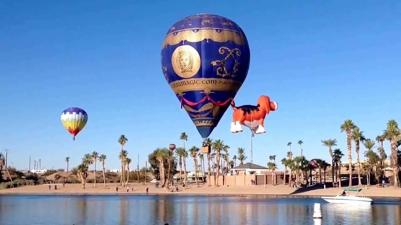 2014 Lake Havasu City, Arizona Hot Air Balloon Festival. Best place on e...