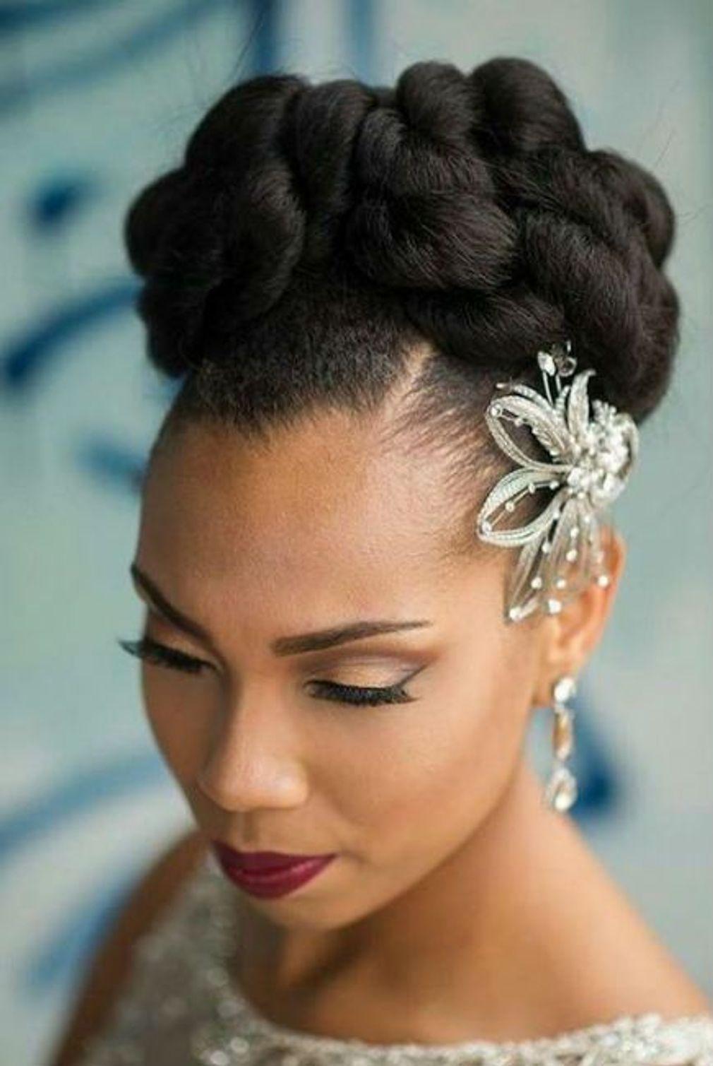 29+ Coiffure mariage noire inspiration