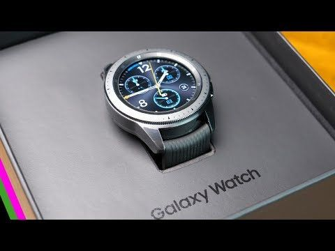 Samsung Galaxy Watch Unboxing & First Impressions - YouTube