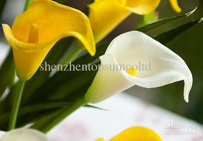 Calla white yellow flower artificial flowers wedding flower gift calla white yellow flower artificial flowers wedding flower gift home decoration hotel mightylinksfo
