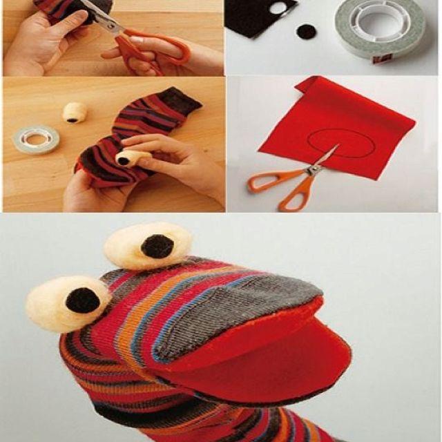 Sock puppet basic steps