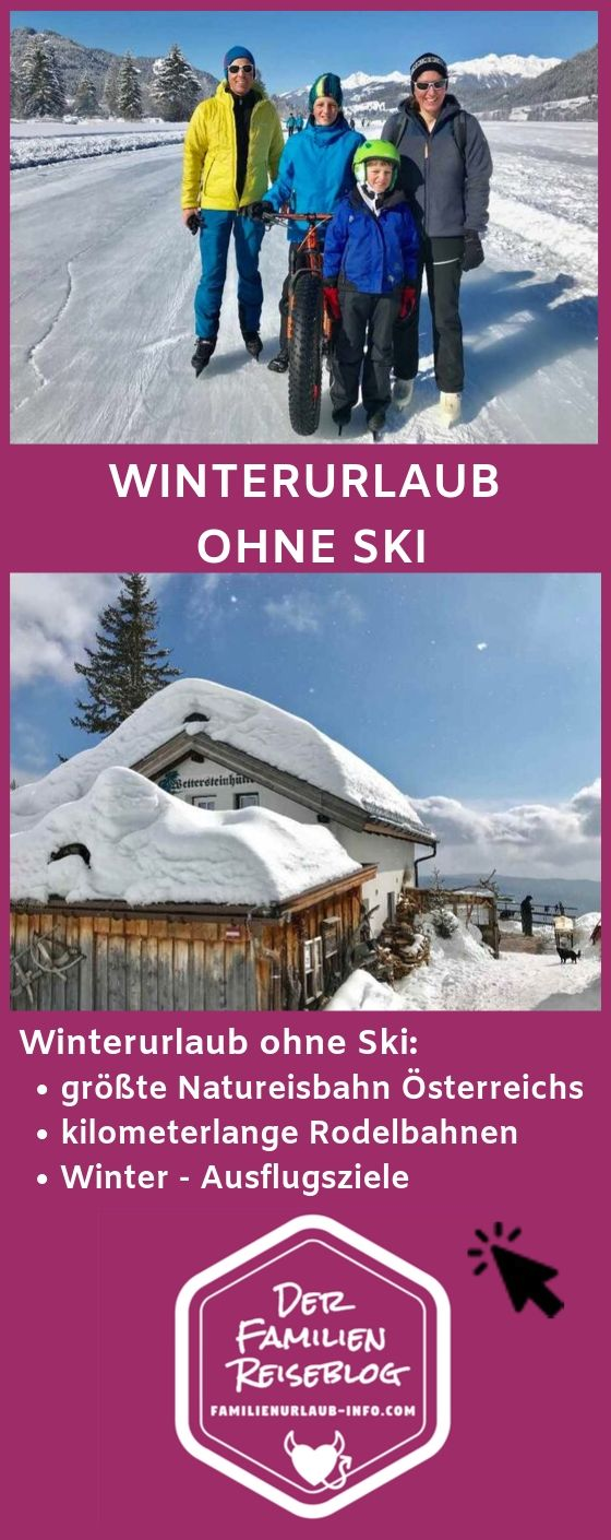 Winterurlaub mit Kindern ohne Ski #thegreatoutdoors