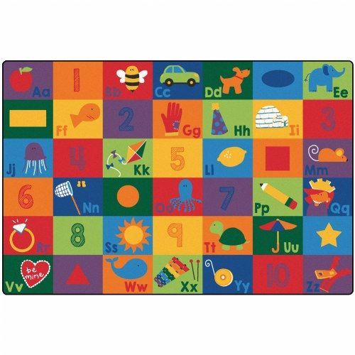 Sequential Seating Literacy Carpet - 4 x 6