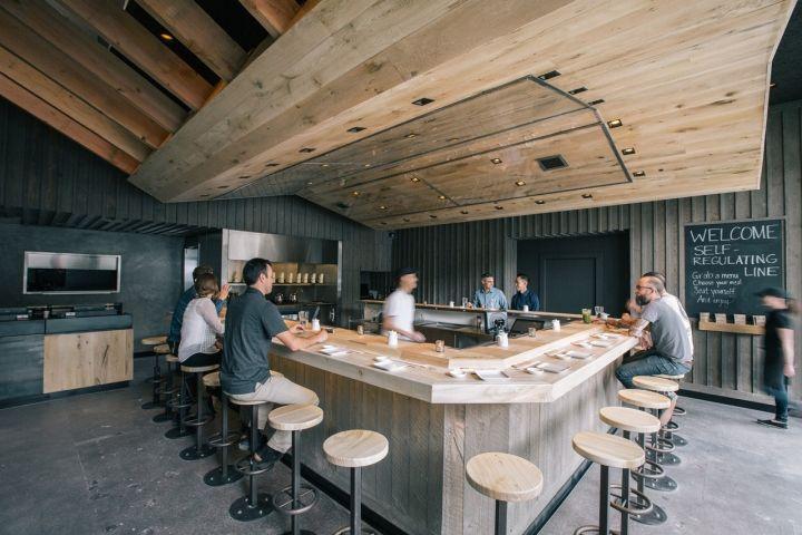 KazuNori Westwood sushi hand roll bar by Marmol Radziner, Palm ...