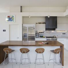 White Kitchen With Wooden Benchtop   Google Search