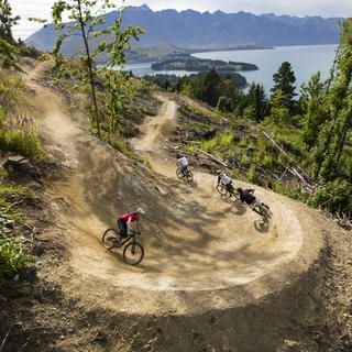 Enjoy stunning lake views as you bolt down the Queenstown