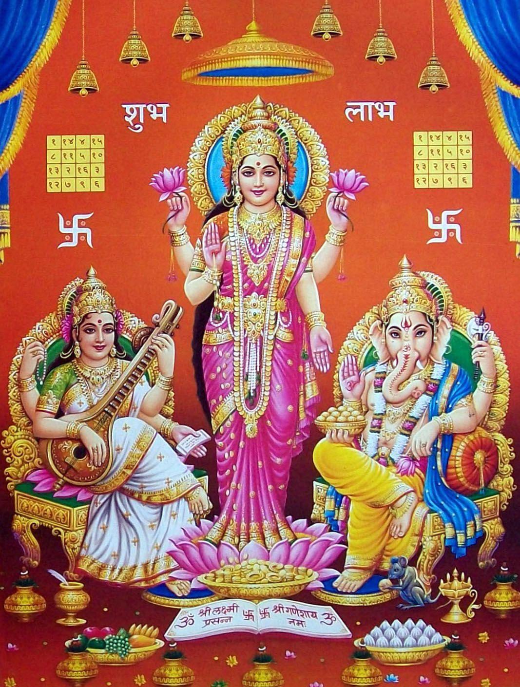 Laxmi Ganesh Saraswati Ganesh Wallpaper Lord Vishnu Wallpapers Ganesh