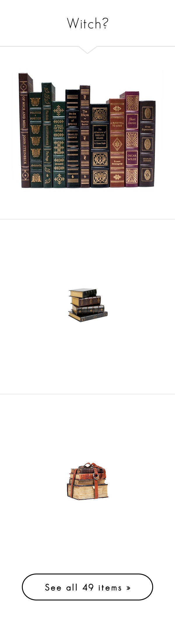 """""""Witch🌙"""" by cherry-demon ❤ liked on Polyvore featuring books, filler, magazine, fillers, backgrounds, accessories, other, harry potter, vintage and quotes"""
