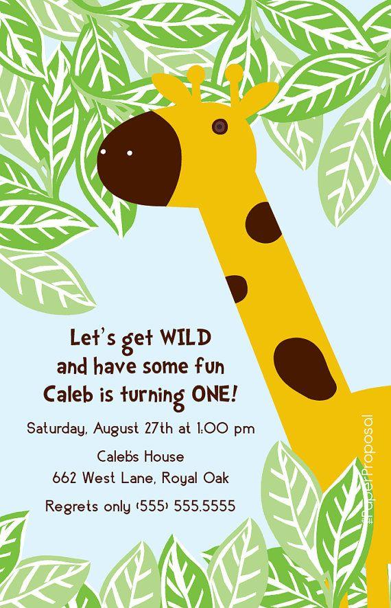 Giraffe Birthday Invitation | Birthday Invitations | Pinterest ...