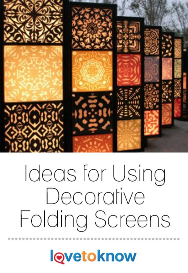 Decorative folding screens can be used as room dividers or as back-drops for dramatic room effects. #homedecor | Ideas for Using Decorative Folding Screens from #LoveToKnow