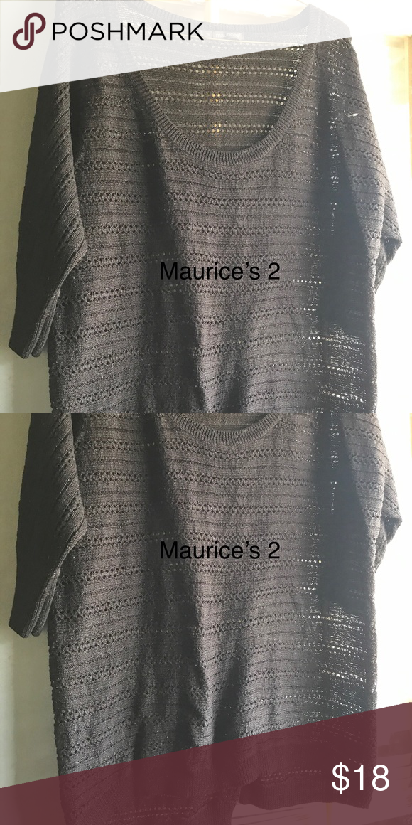 1f727784de4 Maurice s 2 Black Sweater Maurice s 2 Black Sweater Maurices Sweaters Crew    Scoop Necks