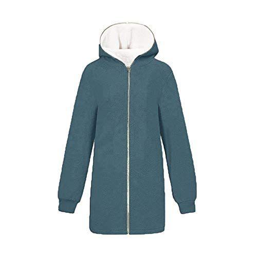 YL Style Warmer Plüschpullover mit Reißverschluss-Cardigan für Damen
