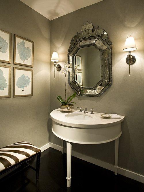 Mirror, Framed Sea Fans Baños ideales Pinterest Baños, Baños - baos lujosos