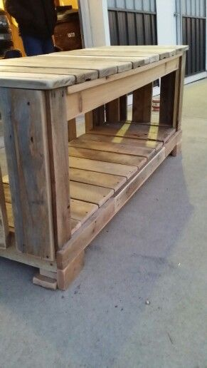 Pallet Wood Tv Stand I Made