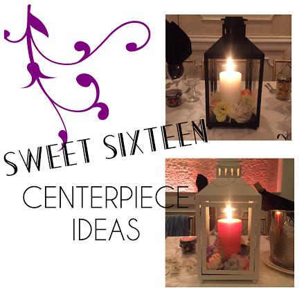 Sweet 16 Centerpieces l Create floral wreath to place around candle l Place arrangement into lantern l Inexpensive Centerpieces l Villa Barone Hilltop Manor